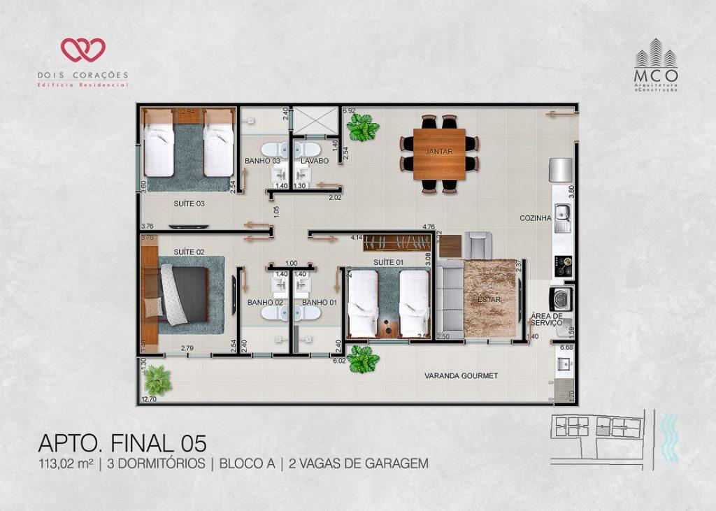 apartamentos final 05 - Lancamento Dois Corações em Ubatuba apresentado pela Imobiliaria Villa Tenorio