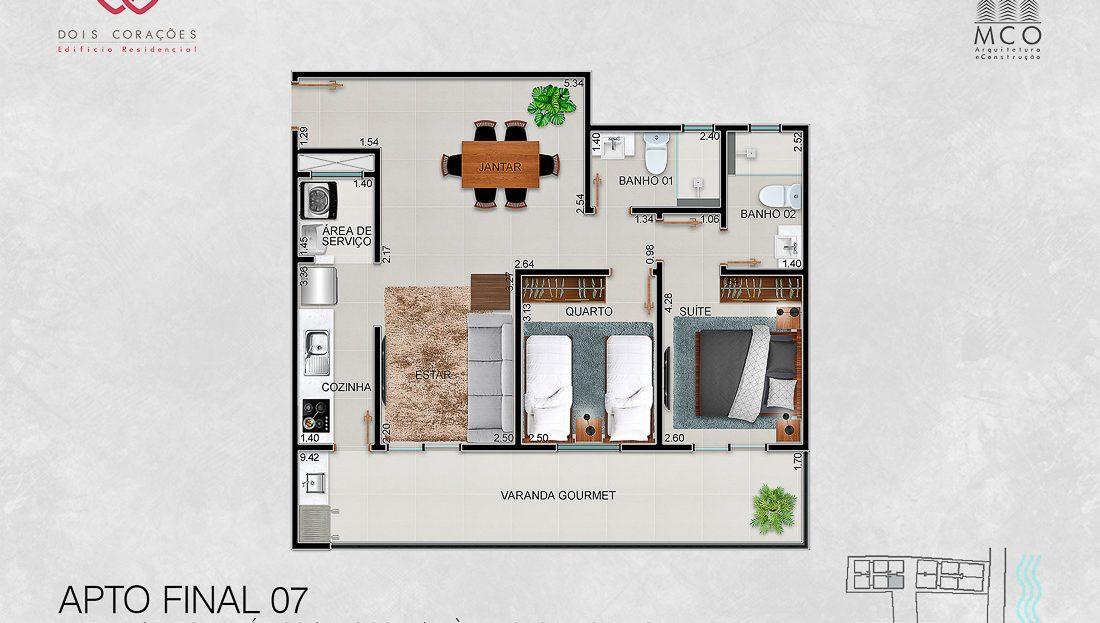 apartamentos final 07 - Lancamento Dois Corações em Ubatuba apresentado pela Imobiliaria Villa Tenorio