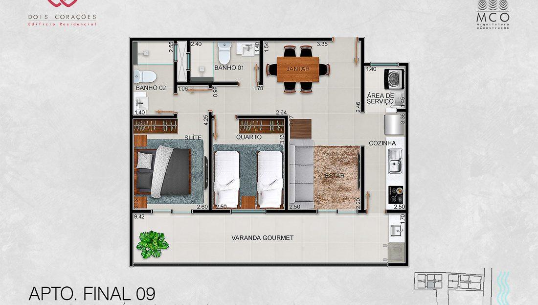 apartamentos final 09 - Lancamento Dois Corações em Ubatuba apresentado pela Imobiliaria Villa Tenorio