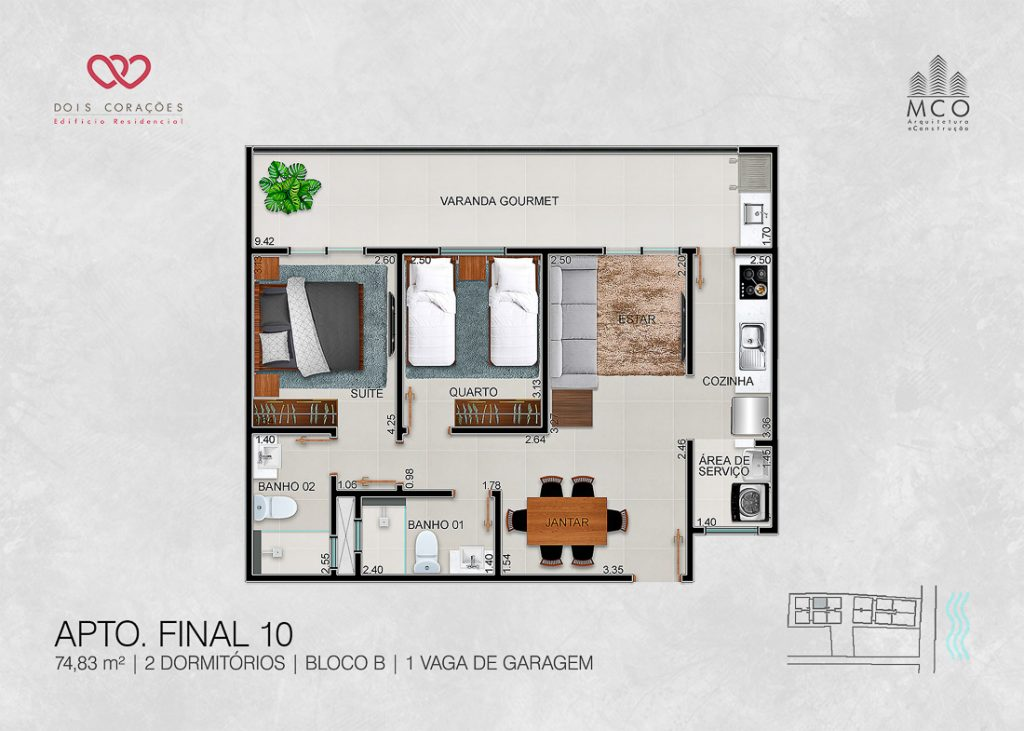 apartamentos final 10 - Lancamento Dois Corações em Ubatuba apresentado pela Imobiliaria Villa Tenorio