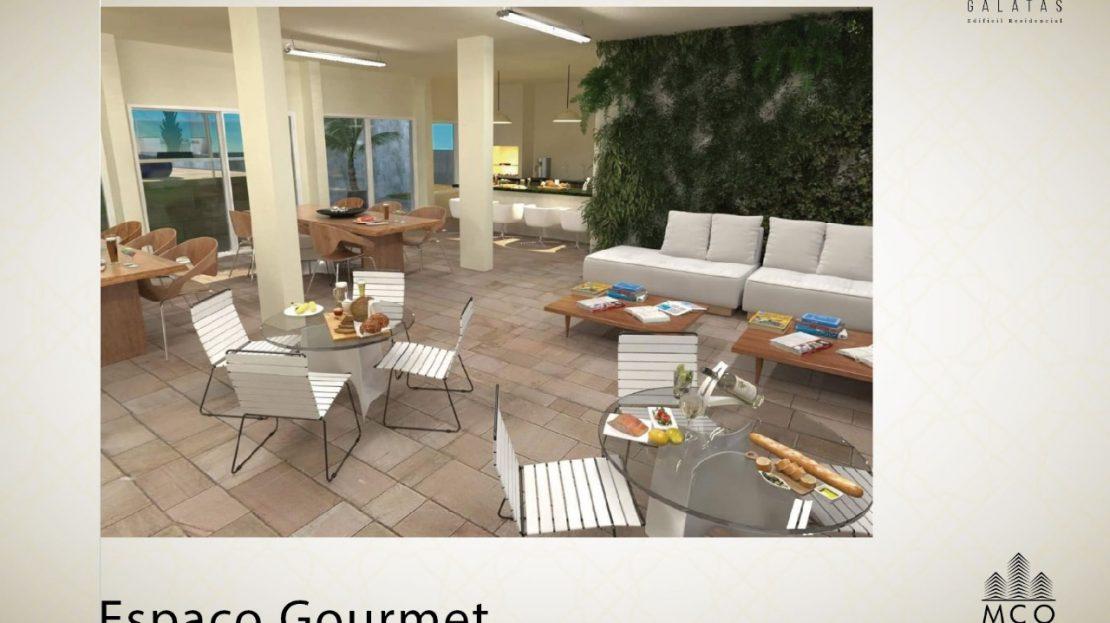Área privativa cobertura Lancamento Galatas em Ubatuba - Espaço Gourmet