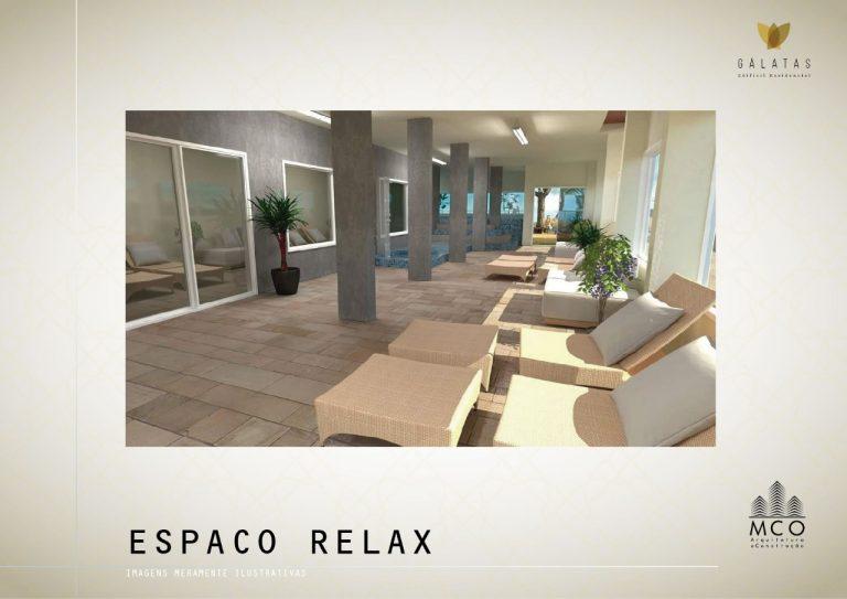Área privativa cobertura Lancamento Galatas em Ubatuba - Espaço Relax