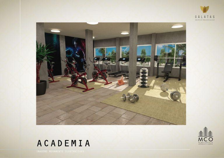 Área privativa cobertura Lancamento Galatas em Ubatuba - Academia