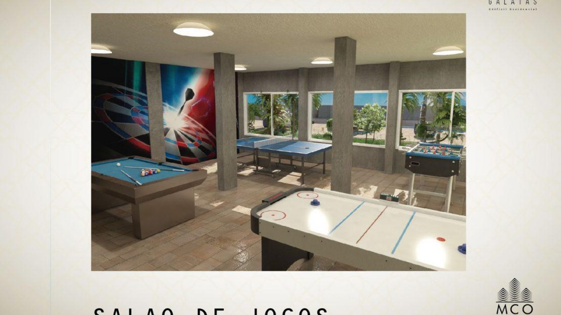 Área privativa cobertura Lancamento Galatas em Ubatuba - Salão de Jogos