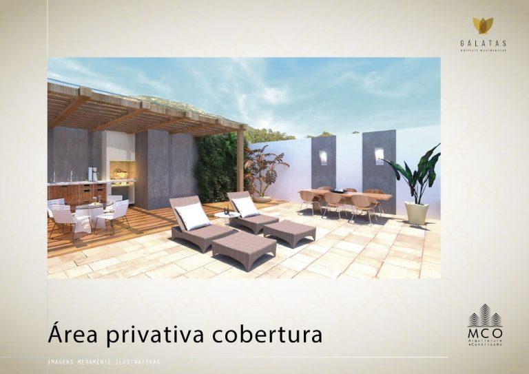 Área privativa cobertura Lancamento Galatas em Ubatuba