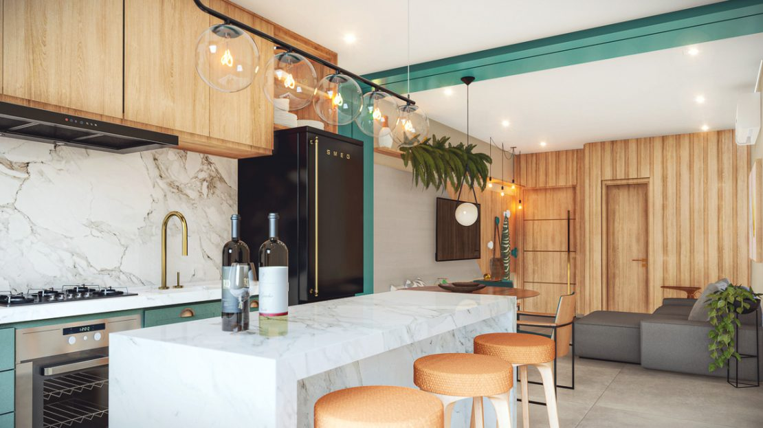 Citta di Vernazza- apartamento na planta_Ubatuba_COZINHA
