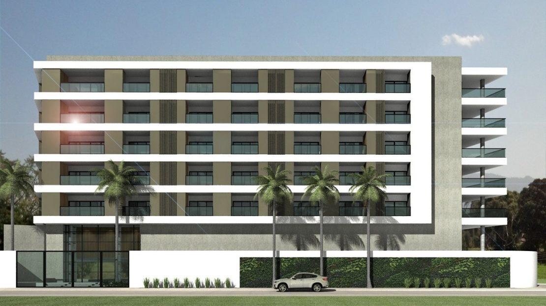 fachada ON lofts em Ubatuba Apartamentos na Planta