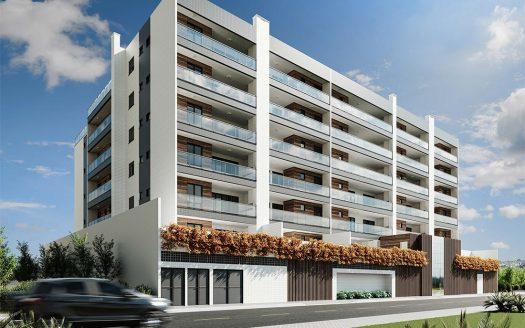 Fachada Circulacao 2 suites finFachada Lancamento Praia das Toninhas em Ubatuba