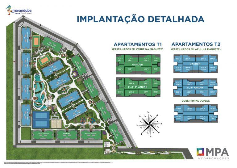Implantação detalhada_MARANDUBA_BEACH_RESORT_ Ubatuba_lancamento