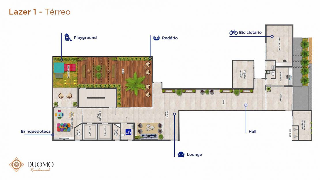 Lazer 1 Terreo-Duomo-residencial-A3-Construtora