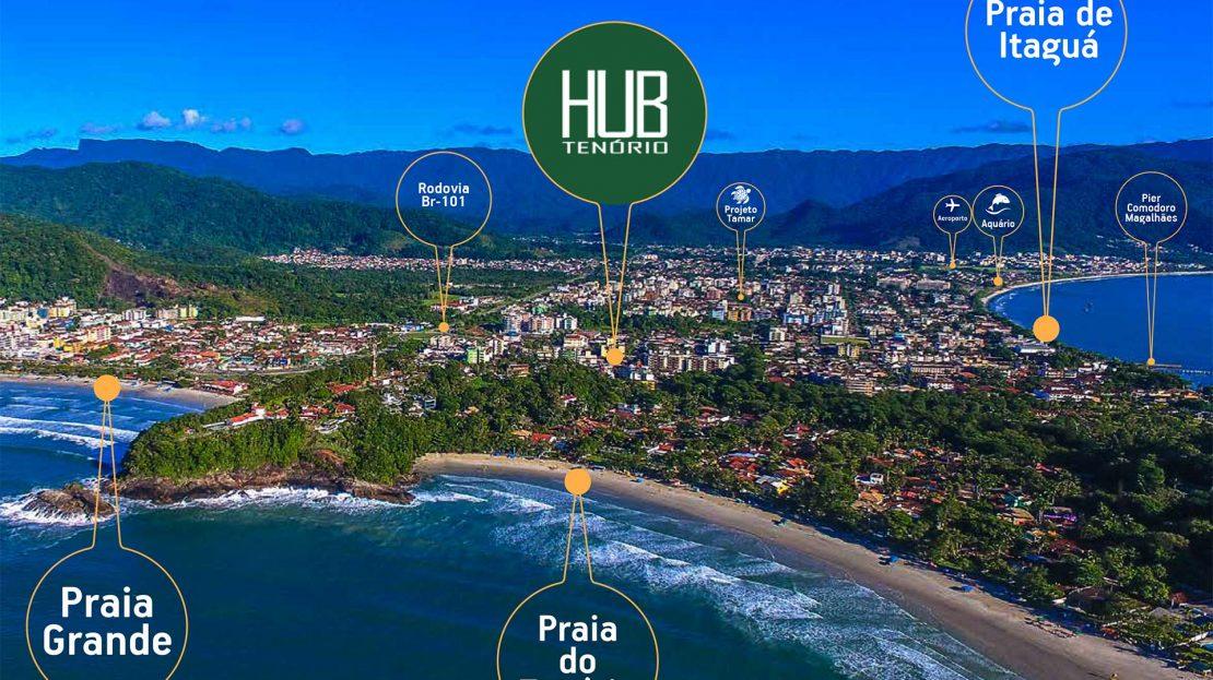 localização do Lançamento de Lofts na Praia do Tenório