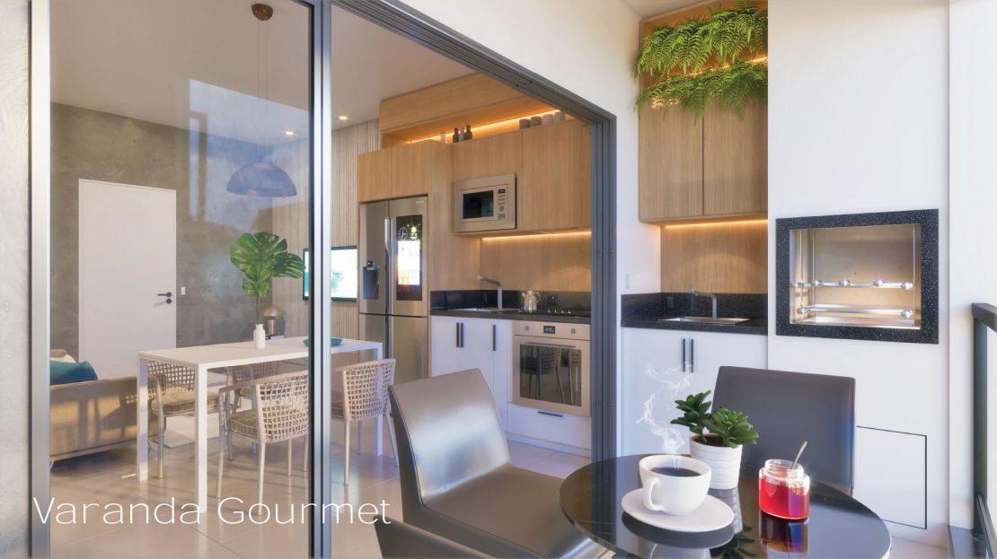 Varanda Gourmet - ON lofts em Ubatuba Apartamentos na Planta