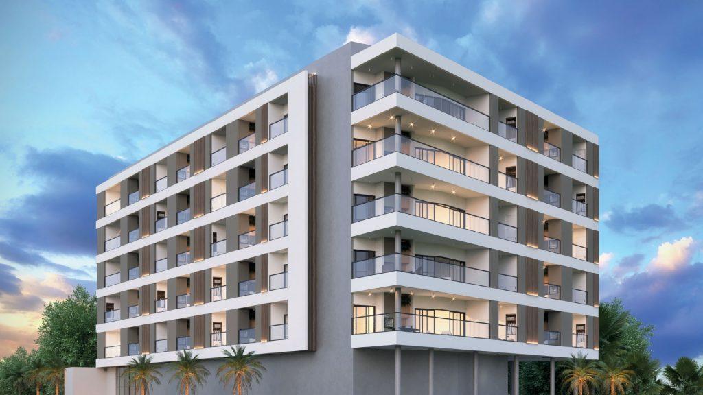 fachada Garagem ON lofts em Ubatuba Apartamentos na Planta