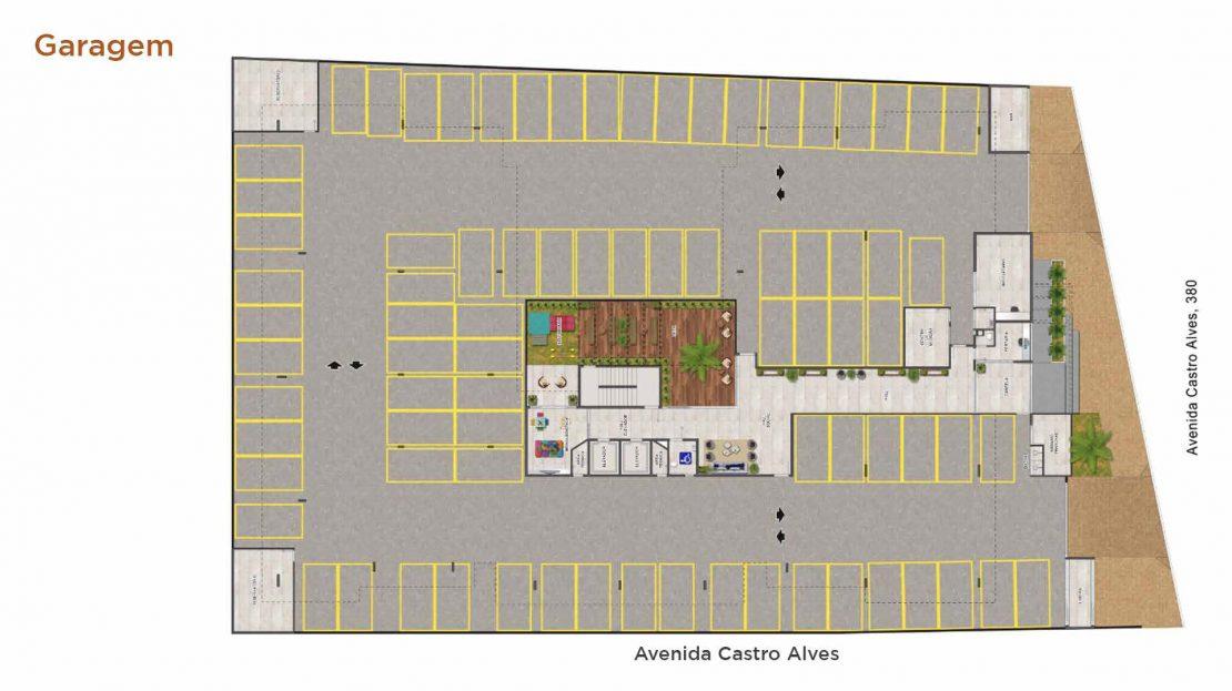 garagem-Lancamento Duomo Residencial - Alto Padrão - Praia do Itagua - A3 Construtora