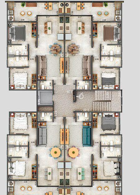 localizacao dos apartamentos - Residencia Città di Montalcino Ubatuba