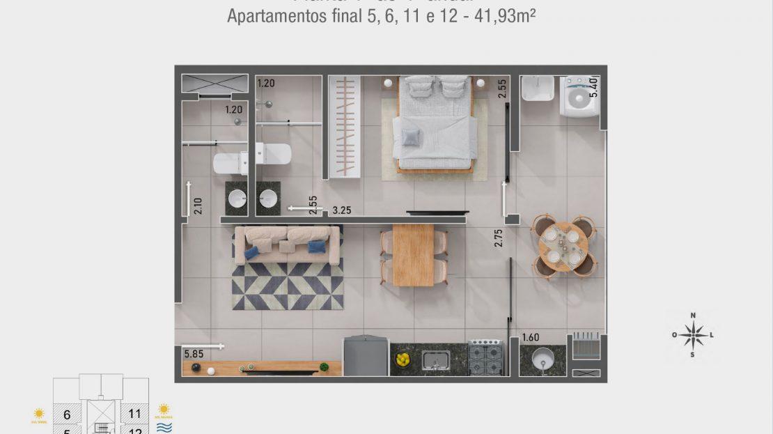 - Apartamento na planta em Ubatuba para vender
