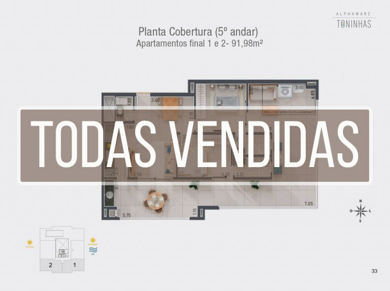 CoberturasVendidas - Apartamento na planta em Ubatuba para vender