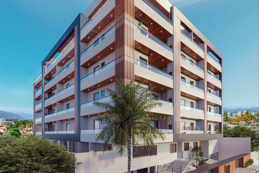 fachada lazer - apartamento na planta para vender em Ubatuba