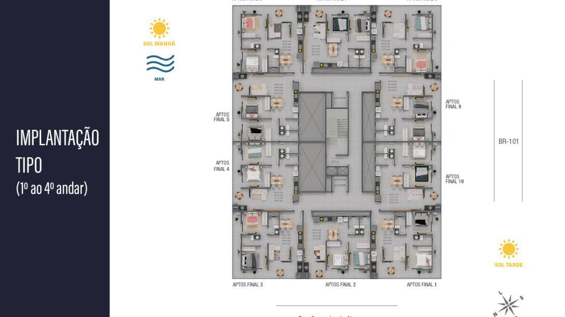 planta final - apartamentos na planta para vender em Ubatuba na praia do Itaguá
